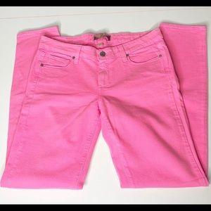 Bubble Gum Pink Paige Peg Skinny jeans